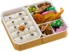 Boxed Lunches with a variety of food