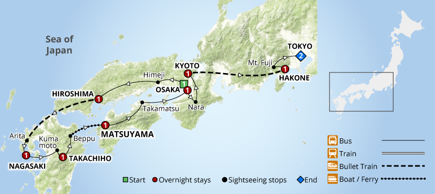 Grand Tour of Japan 11 Days