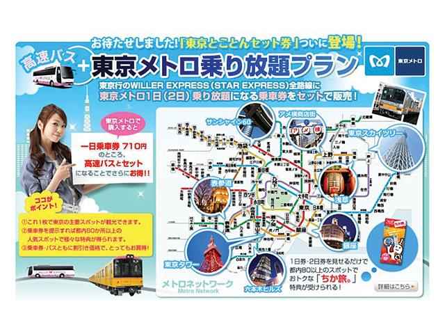New Tokyo Metro plus Limousine Bus Pass