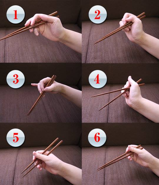 Holding Chopsticks the Right Way