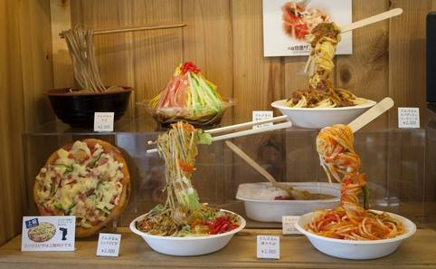 Fake Food - Display models of the dishes