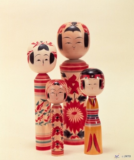 Traditional Wooden Kokeshi Dolls | Miyagi Specialty
