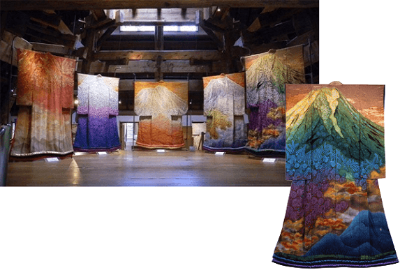 Beautifully Crafted Kimonos on Display