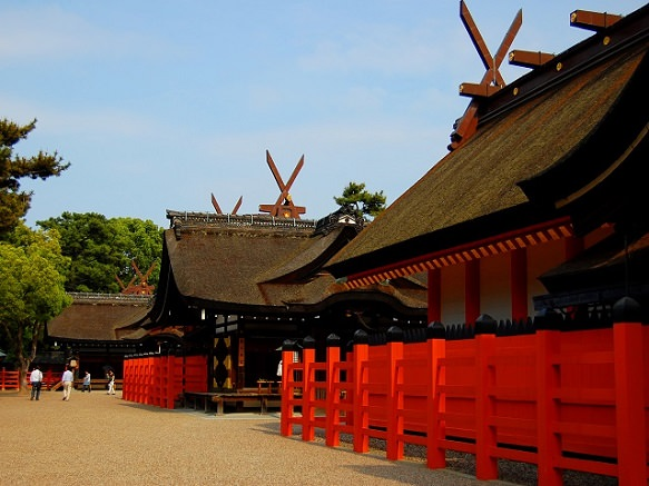 Osaka's Main Sumiyoshi Shrine over 2,000 others