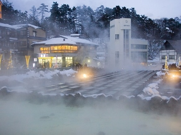 Gunma Largest Natural Flow of Hot Spring Water
