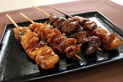 Yakitori | Popular Japanese dish with a glass of nice cold beer