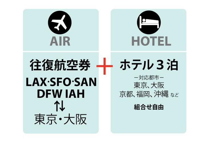 日本航空(JAL) ホテルパッケージ