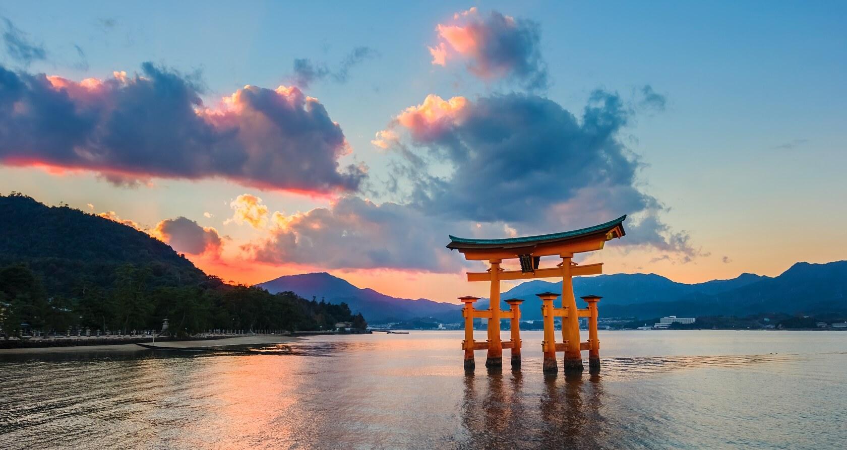 Hiroshima Itsukushima Shrine in Miyajima