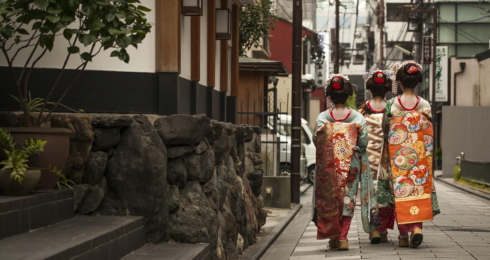 Geisha walking on the Street