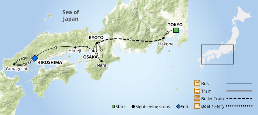 Highlights of Japan | Nikkei Tour Map