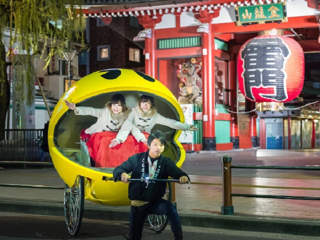 Now you get to be Pac-man as you get a ride around Asakusa!