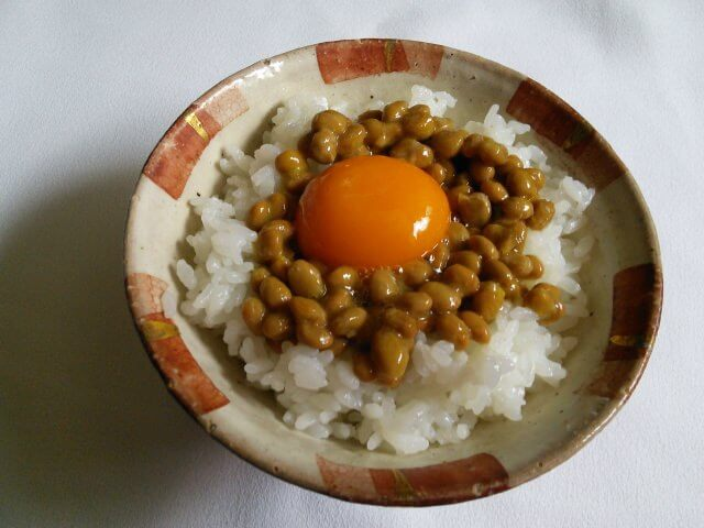 Raw Egg Served on Rice