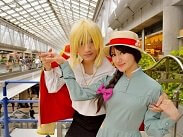 Two cosplayed people are posing at AnimeJapan Festival