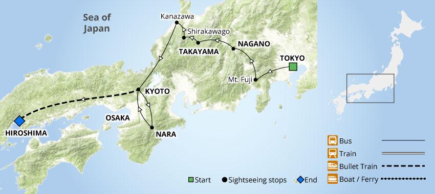 Japan Guided Tour Package    Takayama Festival & Hiroshima 9 Days