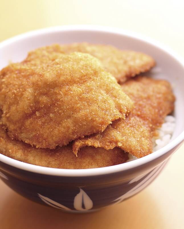 Fried buri on Rice, a Niigata Specialty