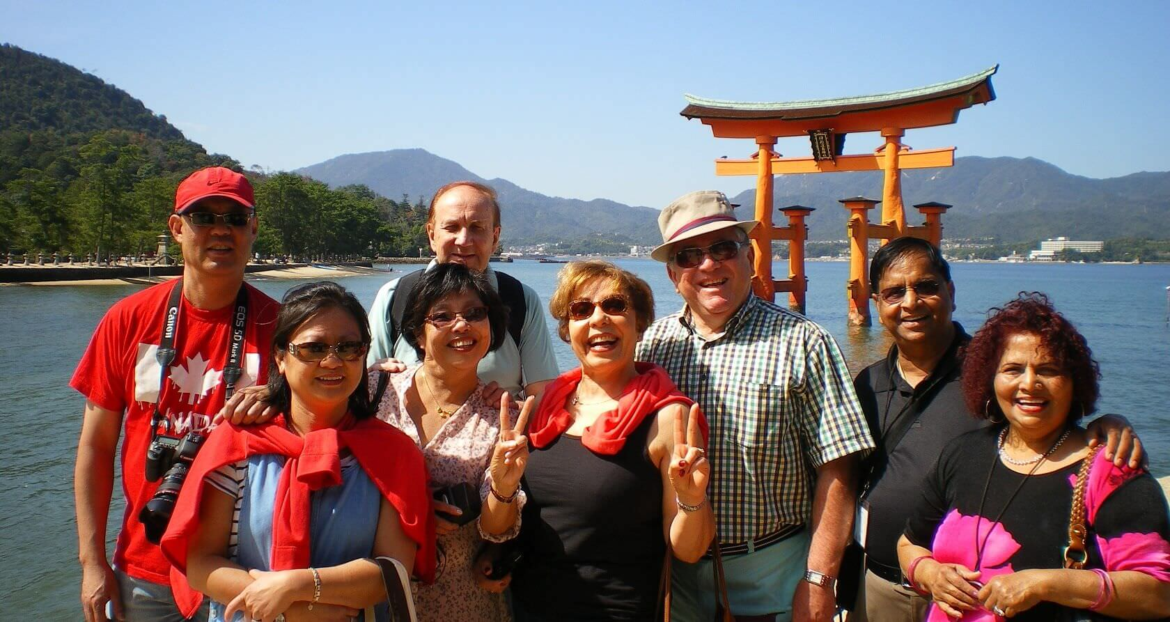 Itsukushima Shrine with Family