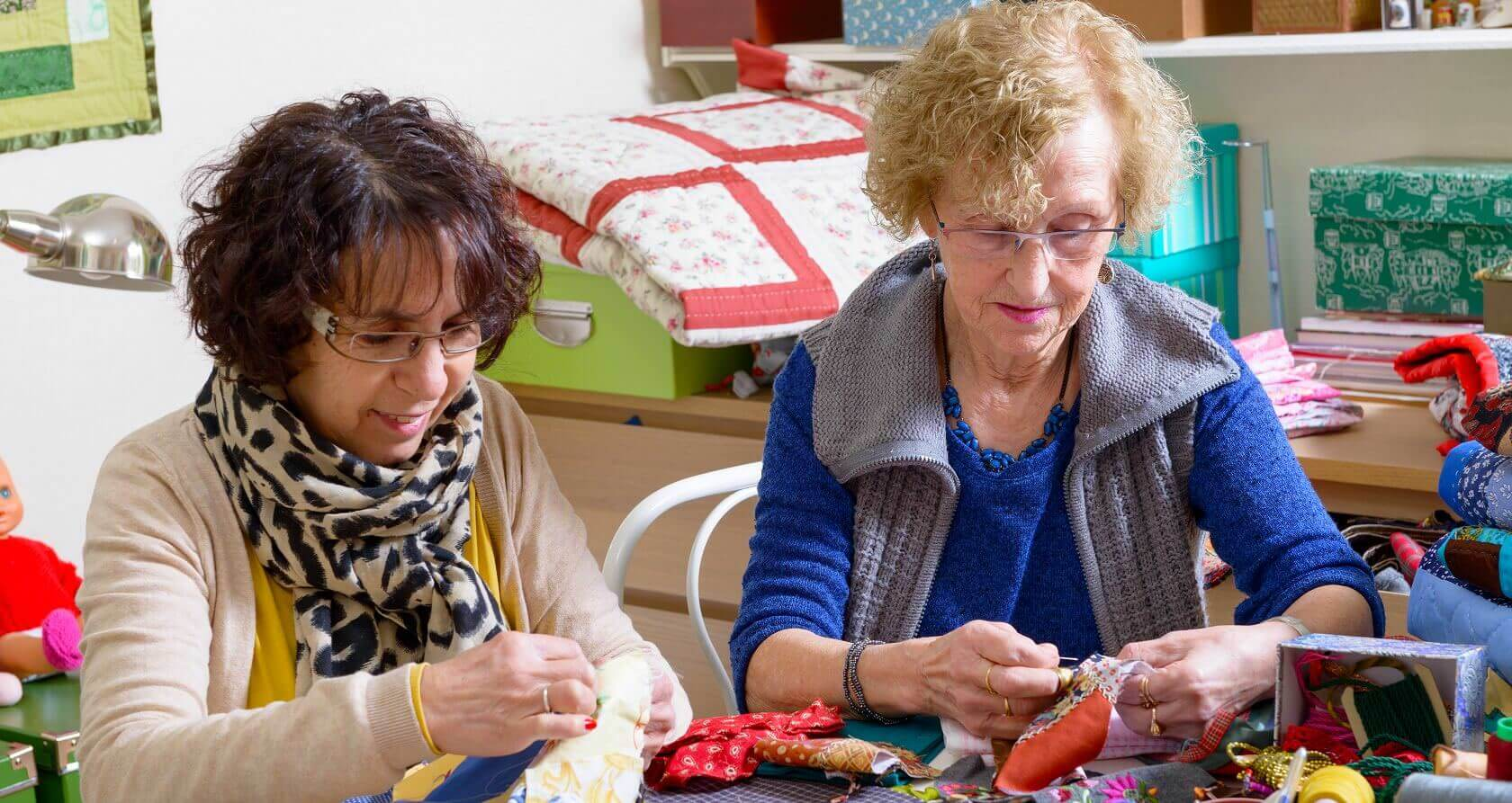 Quilters at Quilt Party