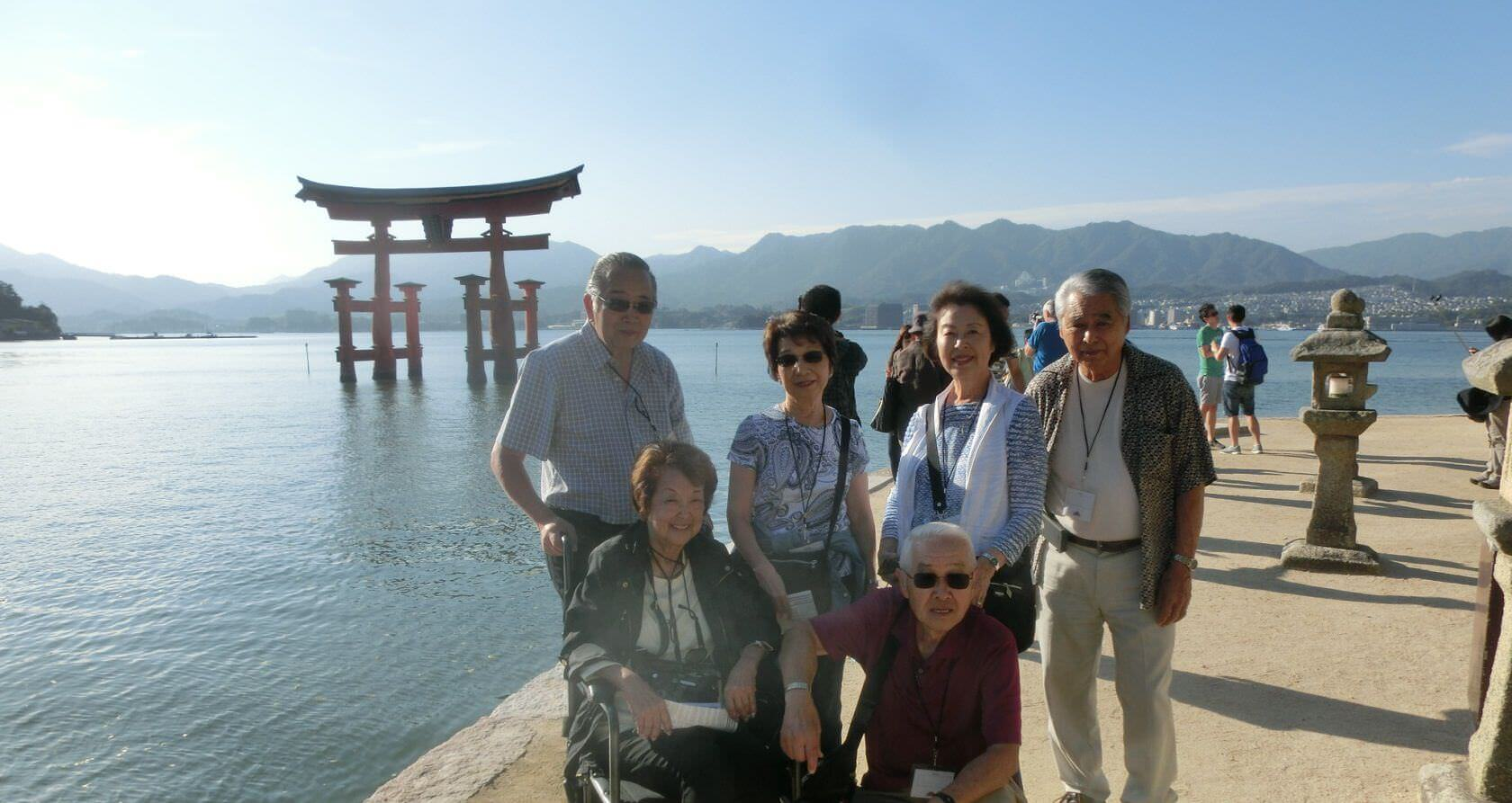 Family at Itsukushima Shrine
