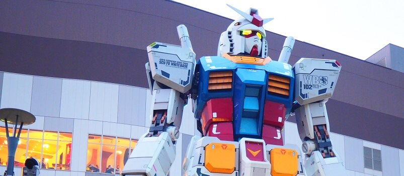Gundam Front Tokyo Is A Must See For All Fans Of The Anime At Entrance Plaza Life Size Model Standing 59 Ft Tall