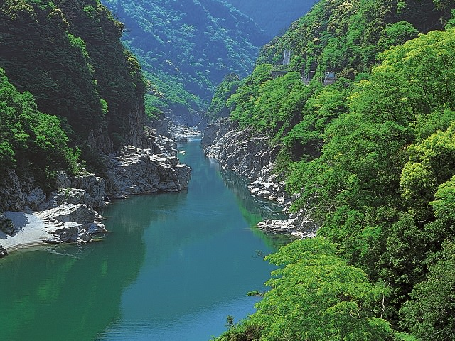 Beautiful Gorge in Yoshino River