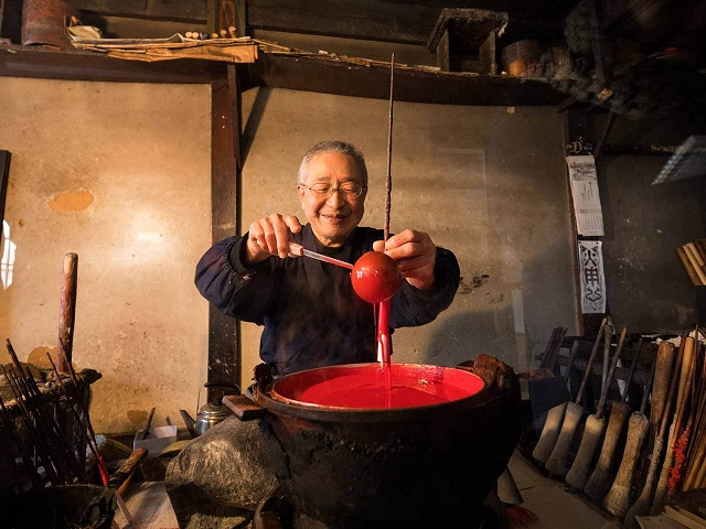 Handmade Process by Mr. Junji Mishima