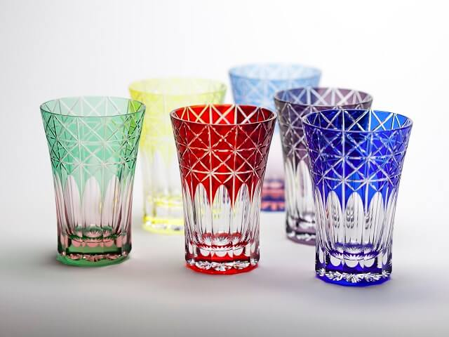 Stunning 2-Layered Glass filled with Color