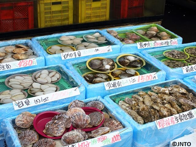 Market for Fresh Seafood, Produce & Hokkaido Specialties