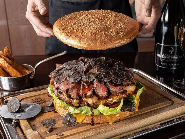 Grand Hyatt Tokyo's Oak Door Restaurant's Massive Burger
