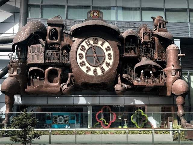 Hayao Miyazaki Designed Clock at Tokyo's Shiodome Station