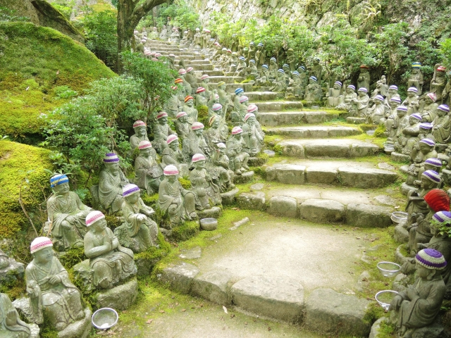 Temple filled with Buddhist Statues