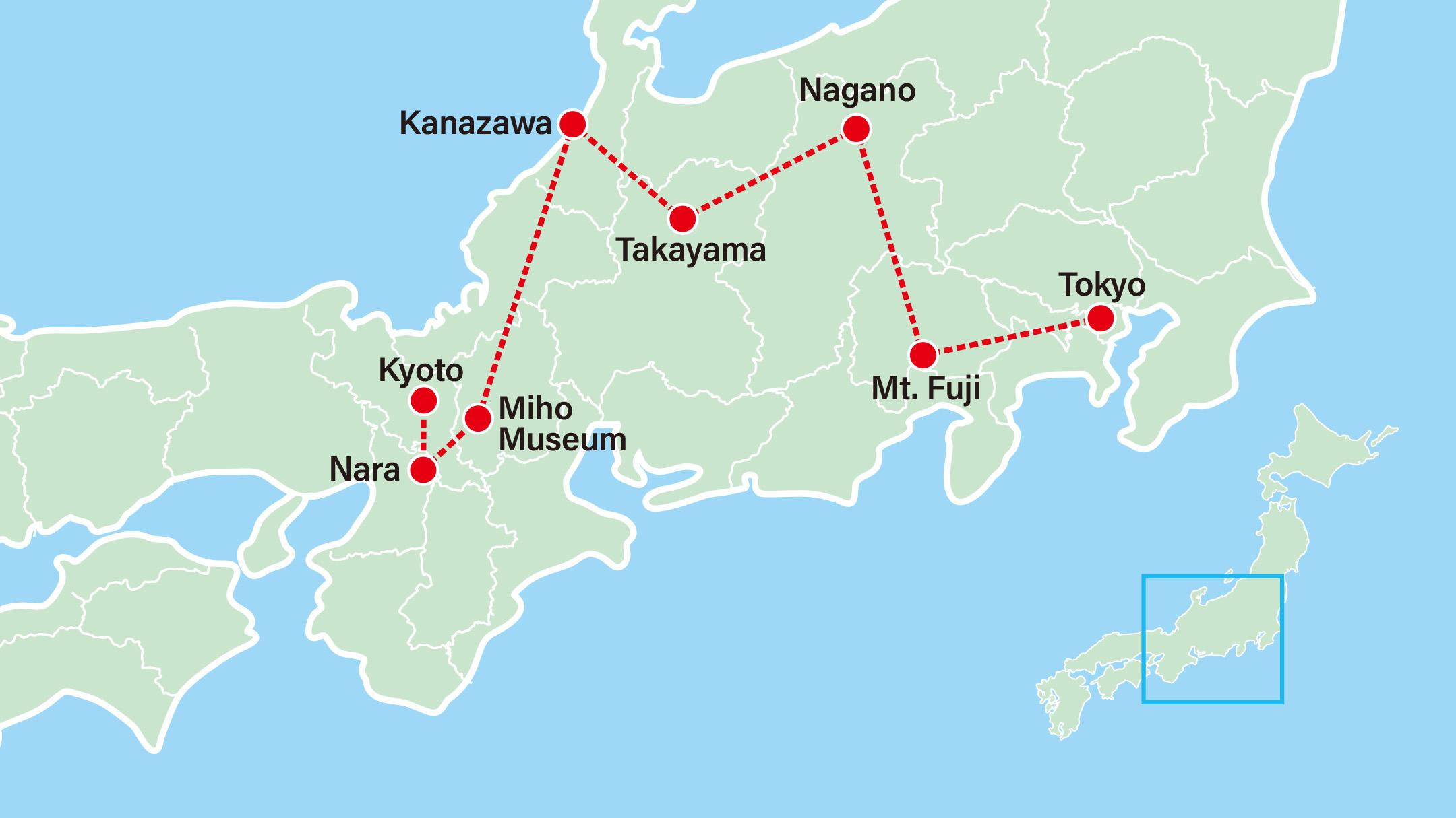 Takayama Old Town & Villages 9 Days-Tokyo-Lake Kawaguchi-Nagano-Takayama-Kanazawa-Miho Museum-Nara-Kyoto