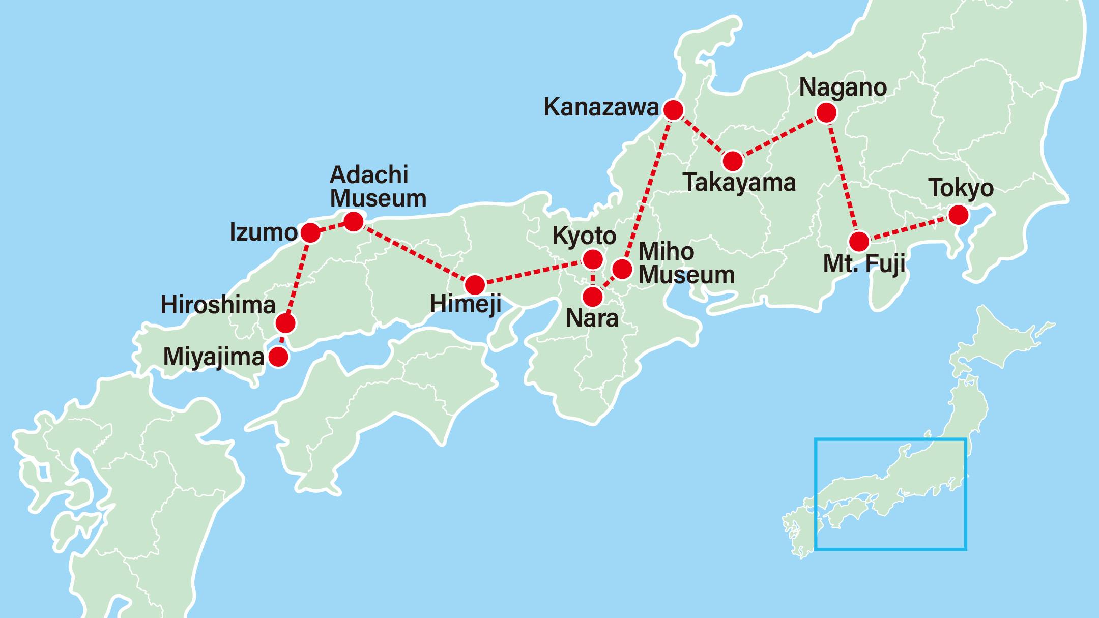 Takayama Old Town & Hiroshima 11 Days-Tokyo-Lake Kawaguchi-Nagano-Takayama-Kanazawa-Miho Museum-Nara-Kyoto-Himeji-Shimane-Hiroshima-Miyajima