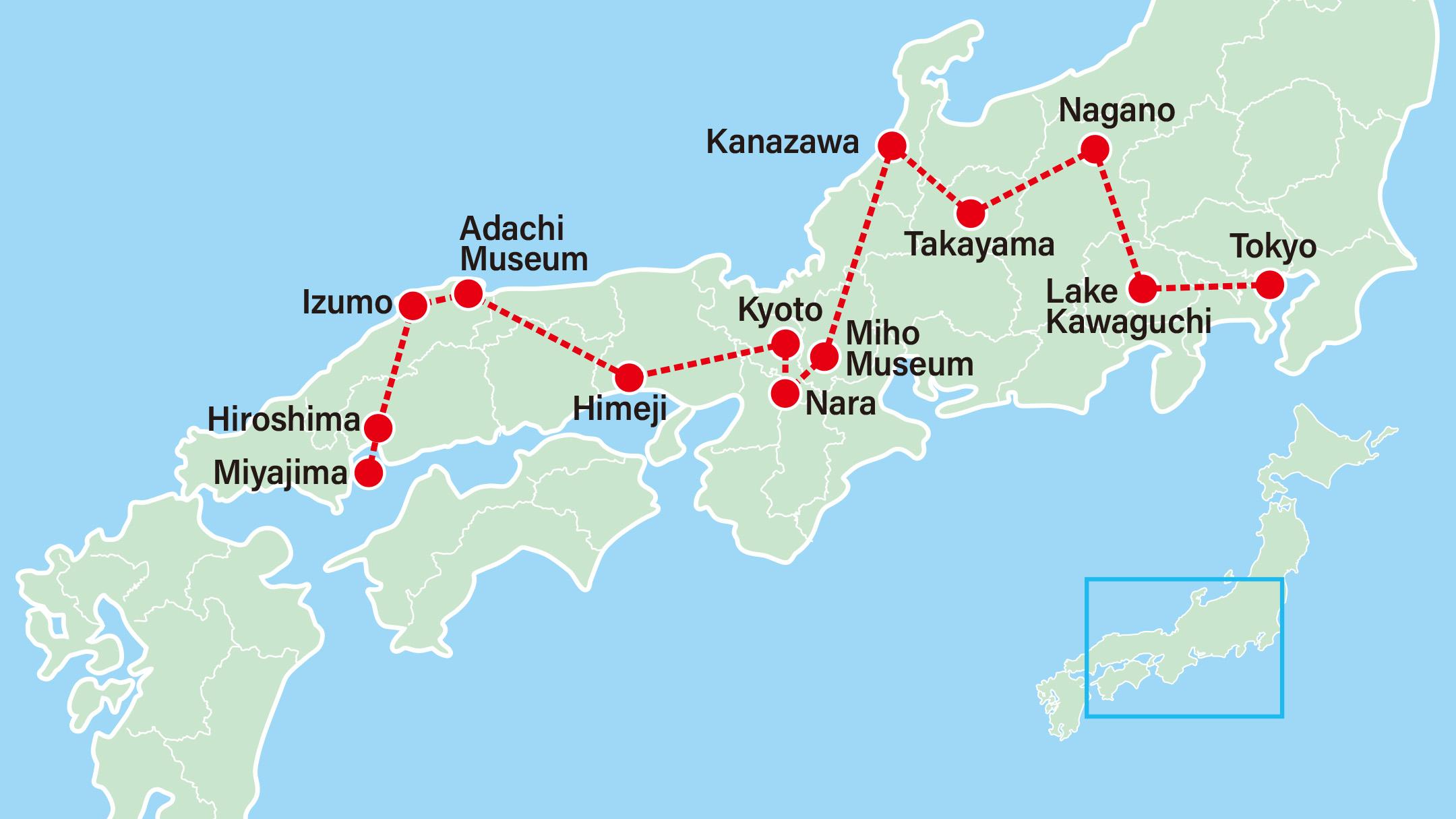 Takayama Spring Festival 10 Days-Tokyo-Lake Kawaguchi-Nagano-Takayama-Kanazawa-Miho Museum-Nara-Kyoto-Himeji-Adachi Museum-Hiroshima-Miyajima