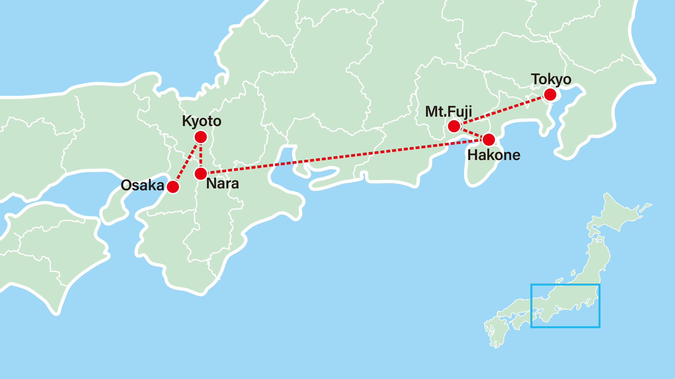 Highlights of Japan | Anime Tour Map