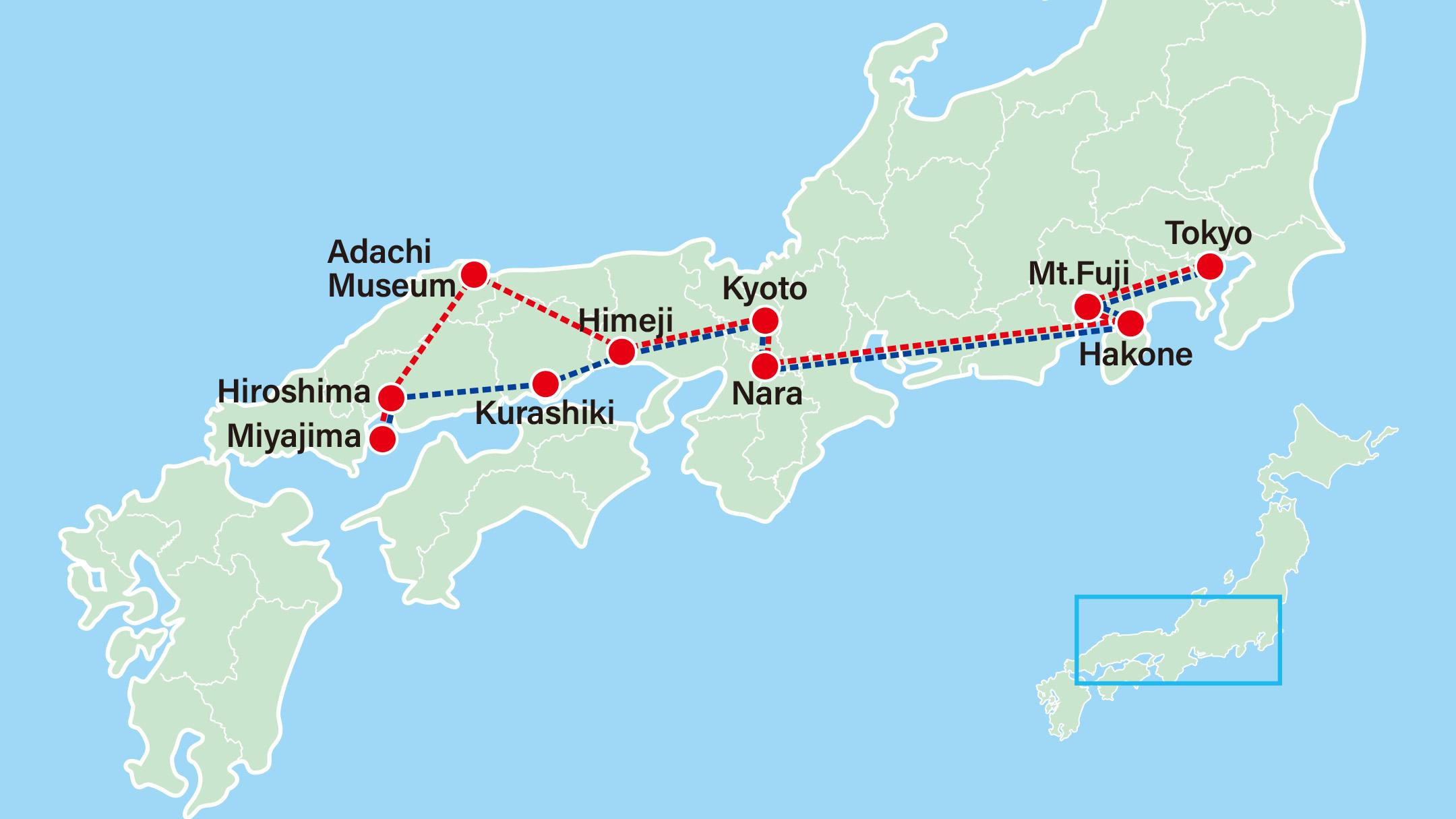 Highlights of Japan 9 Days-Tokyo-Hakone-Kyoto-Nara-Himeji-Kurashiki-Hiroshima-Miyajima