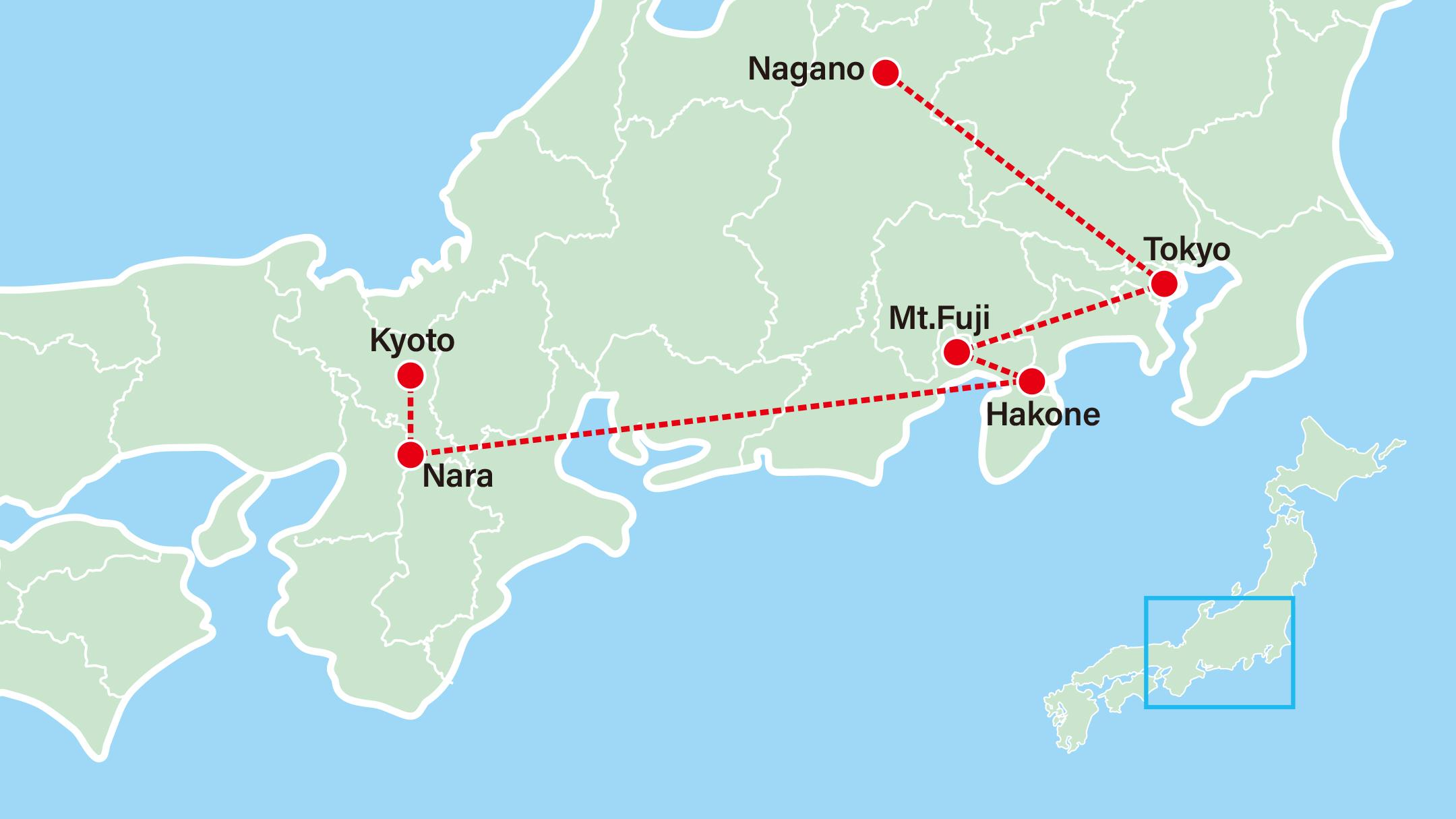 Winter Discovery - Snow Monkey 7 Days-Kyoto-Nara-Hakone-Tokyo-Nagano