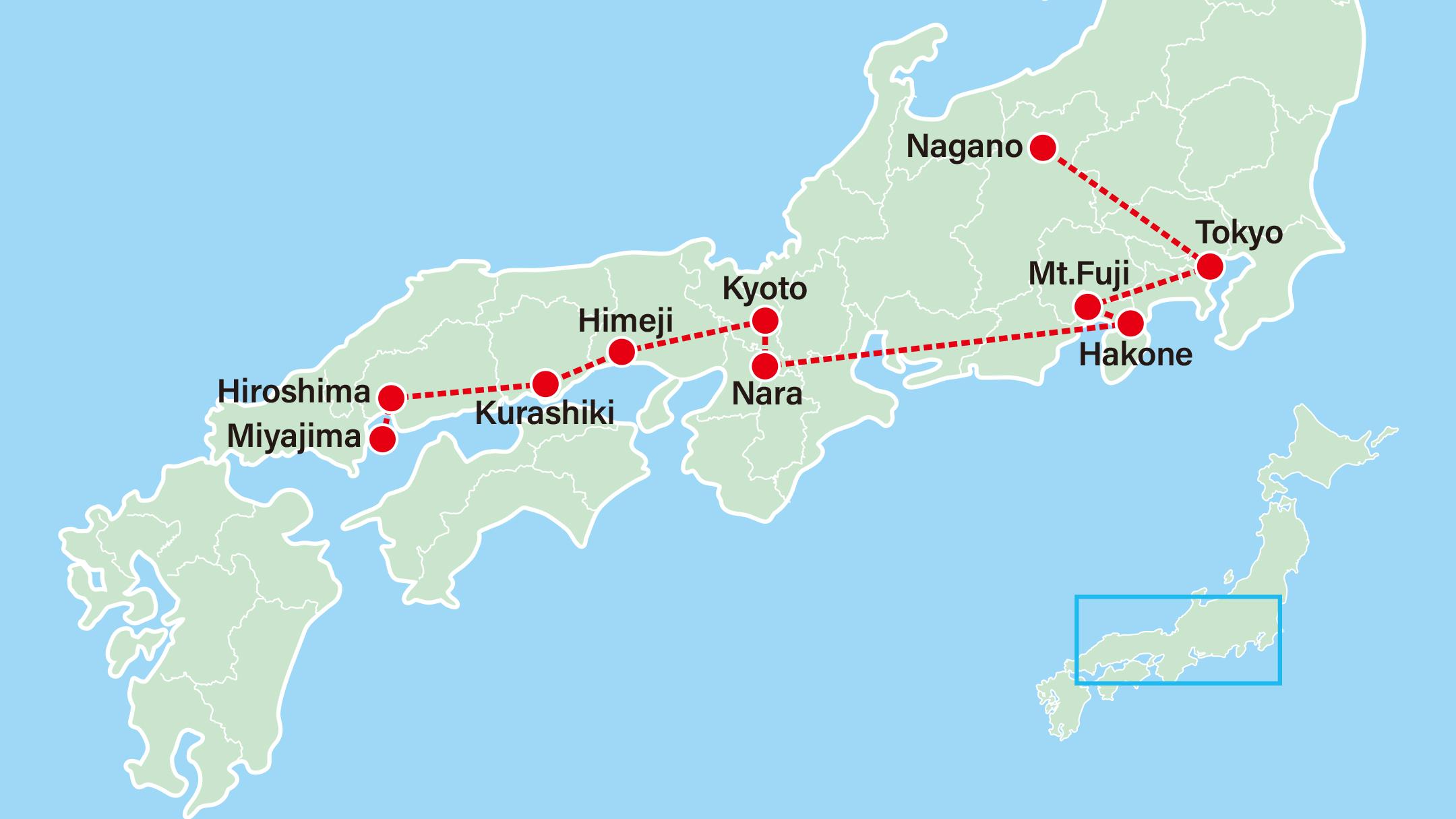 Winter Discovery - Snow Monkey | Anime & Hiroshima-Tokyo-Nagano-Hakone-Kyoto-Nara-Himeji-Kurashiki-Hiroshima-Miyajima