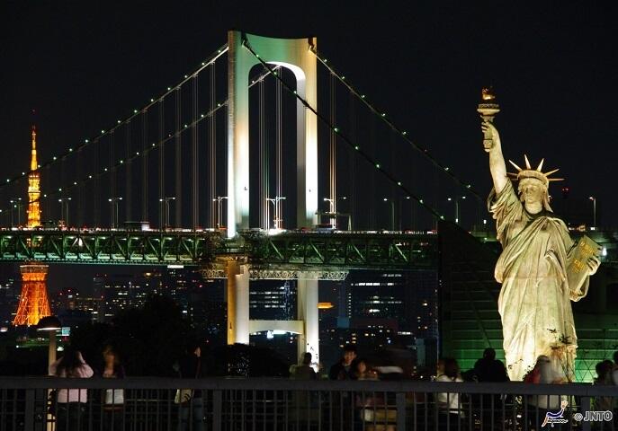 3) Odaiba (<em>Statue of Liberty, Anime Shop & Gundam Front</em>)