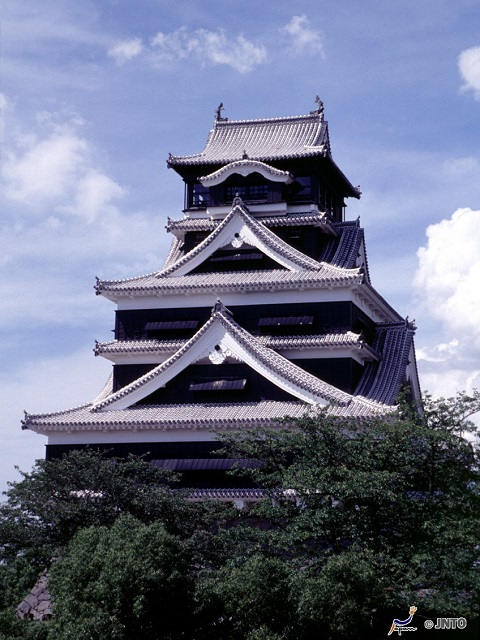 Thriving Japanese Castle Town