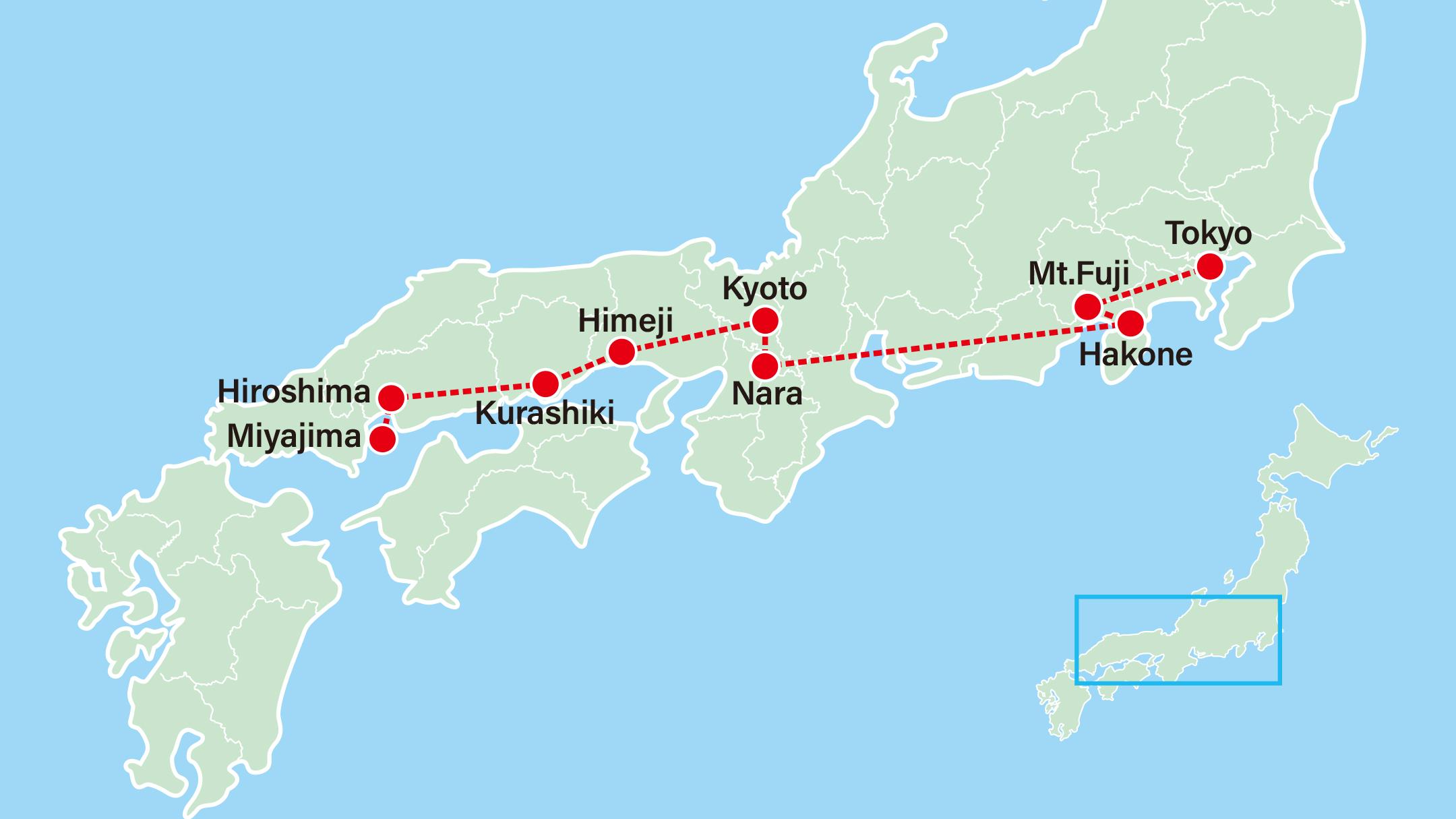 Best of Japan Gion Festival 10 Day Vacation-Gion Festival-Himeji-Kurashiki-Hiroshima-Miyajima-Kyoto-Nara-Hakone-Tokyo