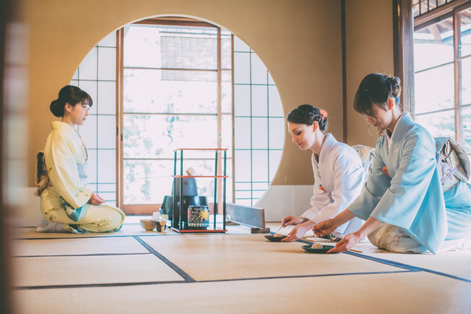 Nerikiri with Japanese Grean Tea Ceremony