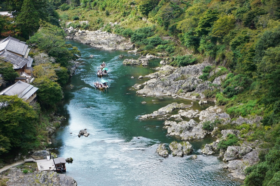 Kyoto Hozu River Boat Tour | Boat Tour Through Picturesque Canyons