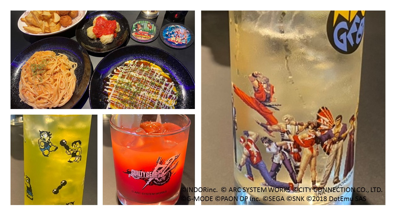 Variety themed snacks, drinks and food
